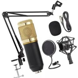 Microfone Estúdio Bm800 + Pop Filter ZB7 + Braço Articulado ZB6