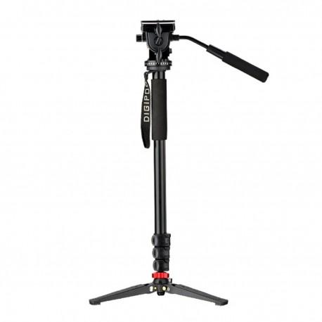 Monopé Digipod MP-274VH Com Pé De Galinha E Cabeça De Vídeo Altura Máxima 1.75m