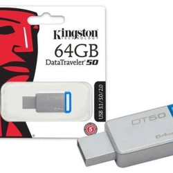 Pen drive Kingston Dt50/64gb datatraveler 50 64gb USB 3.1 metal azul