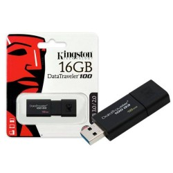 Pen Drive Kingston 16gb Dt100g3/16gb Usb 3.0 Datatraveler 100 Generation 3