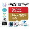 Cartão Micro Sd Sandisk Extreme U3 160mb/s 4k A2 64gb Lacrado