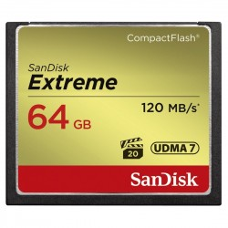 Cartão Compact Flash Cf 64gb Sandisk Extreme 120mb/s