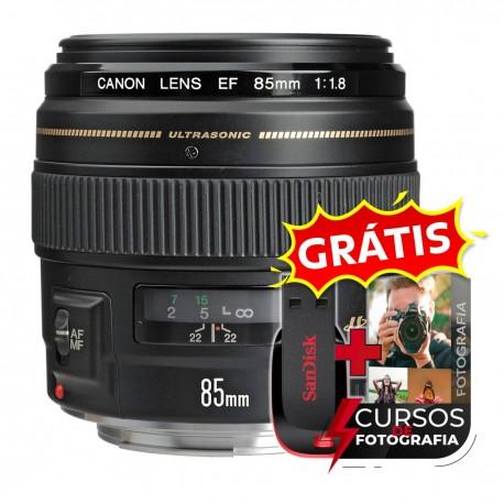 Lente Canon Ef 85mm F1.8 Usm Nota Fiscal, Garantia 1 Ano E Mais Cursos Fotografia
