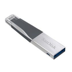 Pendrive SanDisk iXpand Mini 64GB preto/prateado